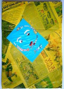Travail d'un enfant - Atelier graphisme à la médiathèque de Port-Louis (juillet 2010)